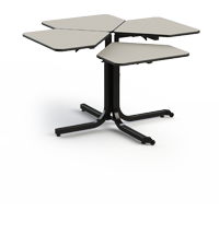 The Butterfly Adjustable Table can be individually adjusted to the appropriate height required by a wheel-chair-bound patient.