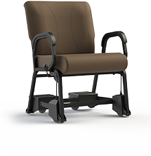 "Titan 941CAS-24 Bariatric Chair with Casters.  Armed, 24"" Wide Seat"
