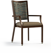 "Contessa - 100  Aluminum Assisted Living Dining Chair.  Armed, 20"" Wide Seat"