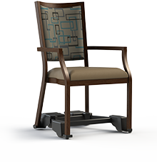 "Contessa - 100- REZ  Aluminum Assisted Living Dining Chair.  Mobility Armed, 20"" Wide Seat"